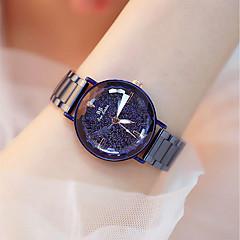 お買い得  レディース腕時計-女性用 ドレスウォッチ クォーツ 耐水 クール ステンレス バンド ハンズ ファッション エレガント ブルー / パープル - パープル ブルー