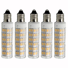 preiswerte LED-Birnen-5 Stück 4.5 W 450 lm E11 LED Mais-Birnen T 76 LED-Perlen SMD 2835 Abblendbar Warmes Weiß / Kühles Weiß 220 V