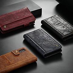 Недорогие Кейсы для iPhone 5-CaseMe Кейс для Назначение Apple iPhone XR / iPhone XS Max Кошелек / Бумажник для карт / со стендом Чехол Однотонный Твердый Кожа PU для iPhone XS / iPhone XR / iPhone XS Max