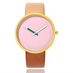 preiswerte Damenuhren-Damen damas Kleideruhr Armbanduhr Quartz Armbanduhren für den Alltag PU Band Analog Modisch Minimalistisch Blau / Braun / Grau - Schwarz Grau Rosa
