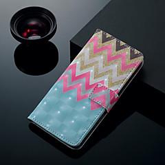 abordables Galaxy S6 Carcasas / Fundas-Funda Para Samsung Galaxy S9 Plus / S9 Soporte de Coche / con Soporte / Flip Funda de Cuerpo Entero Líneas / Olas Dura Cuero de PU para S9 / S9 Plus / S8 Plus