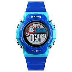 お買い得  レディース腕時計-SKMEI 女性用 スポーツウォッチ 軍用腕時計 デジタル ブラック / ブルー / ピンク 50 m アラーム カレンダー クロノグラフ付き デジタル ファッション 多色 - レッドとブルー ピンク ライトブルー 1年間 電池寿命 / 2タイムゾーン / ストップウォッチ