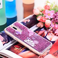Недорогие Чехлы и кейсы для Huawei Mate-Кейс для Назначение Huawei Mate 10 lite Защита от удара / Сияние и блеск Кейс на заднюю панель Бабочка / Сияние и блеск Мягкий ТПУ для Mate 10 lite