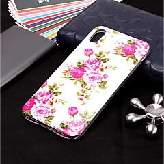 Недорогие Кейсы для iPhone X-Кейс для Назначение Apple iPhone XR / iPhone XS Max Сияние в темноте / С узором Кейс на заднюю панель Цветы Мягкий ТПУ для iPhone XS / iPhone XR / iPhone XS Max