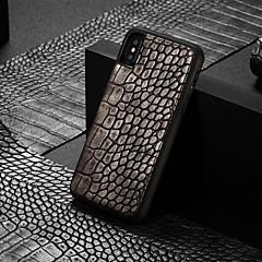Недорогие Кейсы для iPhone X-WHATIF Кейс для Назначение Apple iPhone XR / iPhone 7 Plus С узором Кейс на заднюю панель Однотонный Твердый Кожа PU для iPhone XS / iPhone XR / iPhone XS Max
