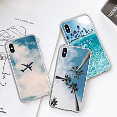 Недорогие Кейсы для iPhone-Кейс для Назначение Apple iPhone XR / iPhone XS Max С узором Кейс на заднюю панель Растения / Вид на город Мягкий ТПУ для iPhone XS / iPhone XR / iPhone XS Max