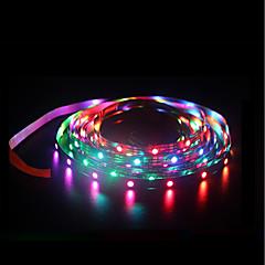 お買い得  LED ストリングライト-BRELONG® 1m RGBストリップライト 60 LED SMD5050 RGB 防水 / クリエイティブ / カット可能 5 V 1個