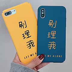Недорогие Кейсы для iPhone 7 Plus-Кейс для Назначение Apple iPhone XR / iPhone XS Max Матовое / С узором Кейс на заднюю панель Слова / выражения Твердый ПК для iPhone XS / iPhone XR / iPhone XS Max