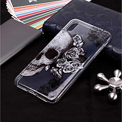 Недорогие Кейсы для iPhone 6 Plus-Кейс для Назначение Apple iPhone XR / iPhone XS Max Прозрачный / С узором Кейс на заднюю панель Черепа Мягкий ТПУ для iPhone XS / iPhone XR / iPhone XS Max