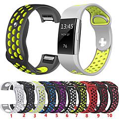 Недорогие -Ремешок для часов для Fitbit Charge 2 Fitbit Спортивный ремешок Нержавеющая сталь / силиконовый Повязка на запястье