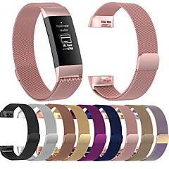 Недорогие -Ремешок для часов для Fitbit Charge 3 Fitbit Миланский ремешок Нержавеющая сталь Повязка на запястье