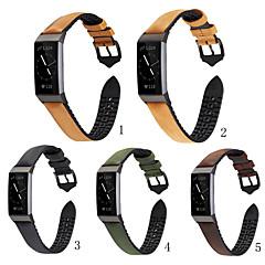 ieftine -Uita-Band pentru Fitbit Charge 3 Fitbit Catarama Clasica Silicon / Piele Autentică Curea de Încheietură
