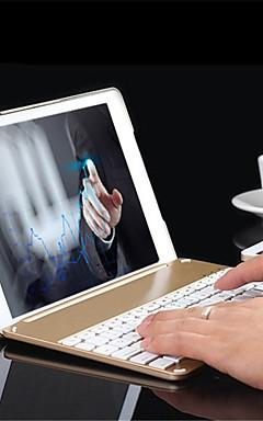 preiswerte -Aluminiumfolie Bluetooth-Tastatur Case Schutzhülle mit bunten hinterleuchtete Licht für ipad Luft 2 / ipad 6 Fall