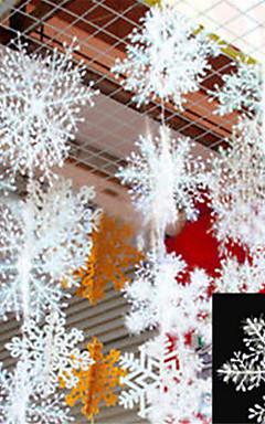 رخيصةأون -30pcs عيد الميلاد رقائق الثلج الأبيض ندفة الثلج الحلي عطلة عيد الميلاد شجرة decortion المهرجان الحزب