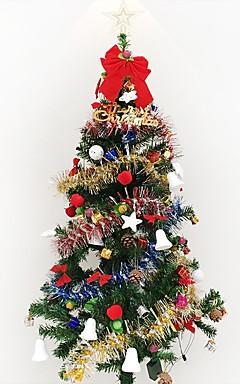 رخيصةأون -1 قطعة 1.5 متر / 150 سنتيمتر تشفير الفاخرة شجرة عيد الميلاد زينت غرفة المعيشة جناح الفندق حزم العام الجديد جيف