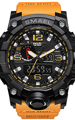 cheap -SMAEL Men's Sport Watch Military Watch Bracelet Watch Digital Quilted PU Leather Black / Blue / Red 30 m Water Resistant / Waterproof Alarm Calendar / date / day Analog - Digital Charm Luxury Vintage