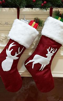 رخيصةأون -جوارب / عيد الميلاد / عيد الميلاد الحلي عيد الميلاد المجيد / عطلة / العائلة قماش كارتون / حزب / حداثة زينة عيد الميلاد