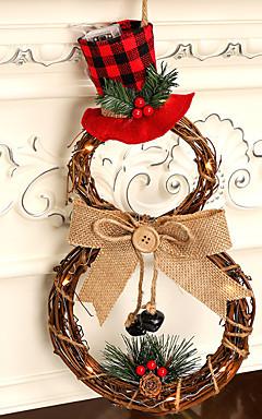 رخيصةأون -أضواء الكريسمس / أضواء ديكور / عيد الميلاد الحلي عطلة / العائلة بلاستيك كارتون / حزب / حداثة زينة عيد الميلاد