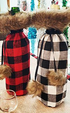 رخيصةأون -حقائب النبيذ وحمالاته / عيد الميلاد الحلي / غطاء زجاجة النبيذ عطلة / العائلة منسوجات كارتون / حزب / حداثة زينة عيد الميلاد