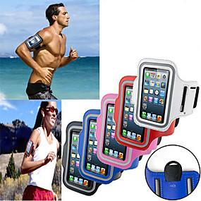 abordables Coques d'iPhone-Coque Pour iPhone 4/4S / Universel Avec Ouverture / Brassard Brassard Couleur Pleine Flexible Textile pour