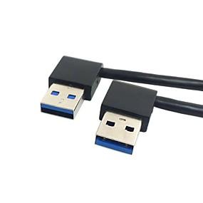Недорогие Аксессуары для ПК и планшетов-USB 3.0 тип мужчина 90 градусов налево под углом направо под углом удлинитель прямо подключения 0,5 м 1.5ft