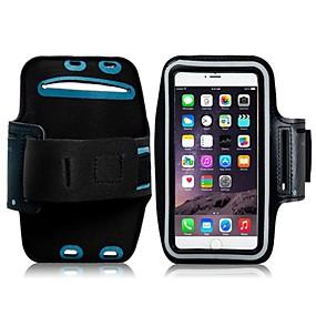 abordables Coques d'iPhone-Coque Pour iPhone 6s Plus / iPhone 6 Plus / Universel Avec Ouverture / Brassard Brassard Couleur Pleine Flexible Textile pour
