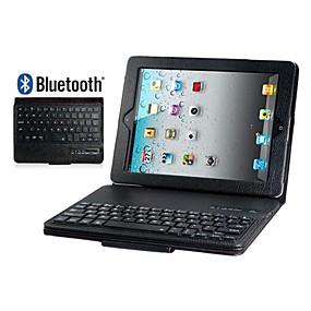 abordables Claviers pour iPad-faux cas flip en cuir avec clavier intégré Bluetooth pour iPad 2/3/4 (couleurs assorties)