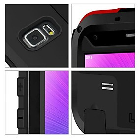 billige LOVE MEI®-Lovemei Etui Til Samsung Galaxy Samsung Galaxy Note Vandtæt / Stødsikker Fuldt etui Helfarve Metal for Note 4