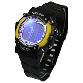 2b53a5c83be baratos Relógios Infantis-Mulheres Relógio de Moda Relogio digital Japanês  Quartzo Digital Borracha Preta 30