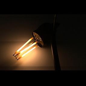Χαμηλού Κόστους Λαμπτήρες LED με νήμα πυράκτωσης-ONDENN 5pcs 4 W LED Λάμπες Πυράκτωσης 2800-3200 lm E12 4 LED χάντρες COB Με ροοστάτη Θερμό Λευκό 110-130 V / 5 τμχ / RoHs