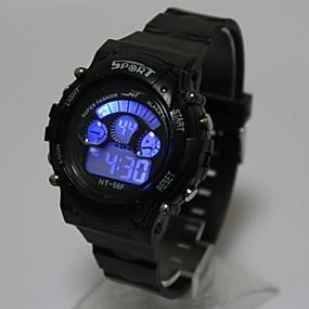 9dc599c92d9 baratos Relógios Infantis-Crianças Relógio de Moda Relogio digital Japanês  Quartzo Digital Silicone Preta 30