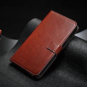 billige Etuier / covers til Galaxy Note-modellerne-Etui Til Samsung Galaxy Samsung Galaxy Note Kortholder / Med stativ / Flip Fuldt etui Ensfarvet PU Læder for Note 5 / Note 4 / Note 3