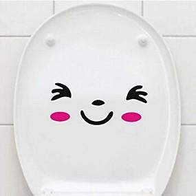 cheap Decoration Stickers-Bathtub Appliques Toilet / Bathtub / Shower Plastic Multi-function / Eco-Friendly / Gift