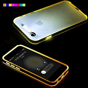 abordables Coques d'iPhone-Coque Pour Apple iPhone 6 Plus / iPhone 6 Lampe LED Allumage Auto / Transparente Coque Couleur Pleine Flexible TPU pour iPhone 6s Plus / iPhone 6s / iPhone 6 Plus