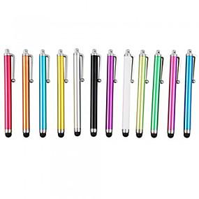 billige Vedhæng til mobiltelefoner-kinston® 12 x universel succes metal kapacitive stylus berøringsskærm pen clip til iphone / ipad / samsung mobiltelefon tablet