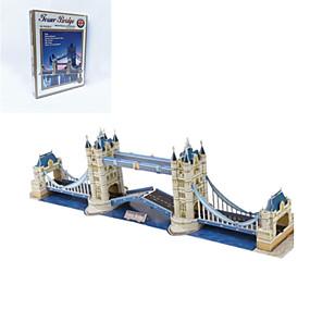 povoljno Modeli i zgrade-DIY u obliku twin mostovi 3d puzzle
