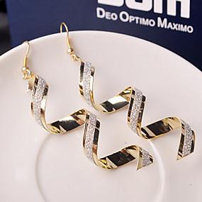 billige $0.99 Mode smykker-Dame Dråbeøreringe Øreringe Bølge Billig Damer Mode Smykker Sølv / Gylden Til Bryllup Fest Daglig Afslappet