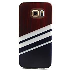 halpa Galaxy S -sarjan kotelot / kuoret-Etui Käyttötarkoitus Samsung Galaxy Samsung Galaxy kotelo Kuvio Takakuori Linjat / aallot TPU varten S6 edge / S6 / S5 Mini
