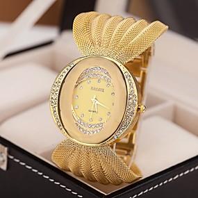 billige Modeure-Dame Luksus Ure Armbåndsur Diamond Watch Quartz Sølv / Brun / Guld Imiteret Diamant Analog Damer Glitrende Mode Kjoleur - Sølv Gylden
