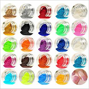 זול איפור וטיפול בציפורניים-אקרילי עבור אצבע חמוד / 24 צבעים עיצוב ציפורניים פדיקור מניקור מופשט (אבסטרקטי) / קלסי / חתונה יומי
