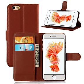 abordables Coques d'iPhone-étui de ji pour apple iphone xr xs xs titulaire de la carte / étuis à rabat uni en cuir de couleur dure pour iphone x 8 8 plus 7 7plus 6s 6s plus se 5 5s