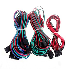 billige Forbrugerelektronik-14pcs komplet ledningsføring kabler til 3D-printer RepRap ramper 1.4 endestop termistorer motor