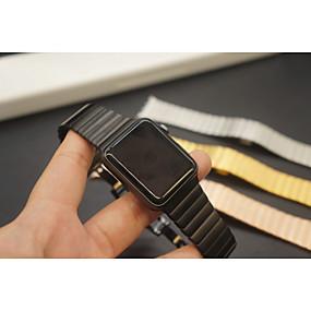 abordables Bracelets Apple Watch-Bracelet de Montre  pour Apple Watch Series 4/3/2/1 Apple papillon Boucle Métallique Sangle de Poignet