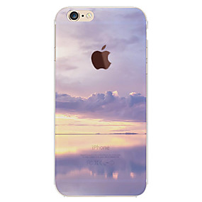 abordables Coques d'iPhone-Coque Pour Apple iPhone 6 Plus / iPhone 6 Motif Coque Ciel / Paysage Flexible TPU pour iPhone 6s Plus / iPhone 6s / iPhone 6 Plus