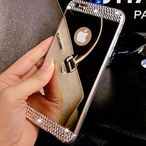abordables Coques d'iPhone-Coque Pour Apple iPhone 8 / iPhone 8 Plus / iPhone 7 Strass / Plaqué / Miroir Coque Couleur Pleine Dur Acrylique pour iPhone 8 Plus / iPhone 8 / iPhone 7 Plus
