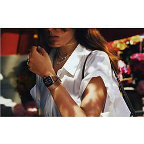 billige Mobiltelefonstilbehør-Urrem for Apple Watch Series 4/3/2/1 Apple Klassisk spænde Ægte læder Håndledsrem