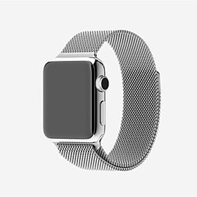 billige Apple-tilbehør-Urrem for Apple Watch Series 4/3/2/1 Apple Milanesisk rem Rustfrit stål Håndledsrem
