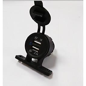 voordelige Autoladers-lossmann autolader 5v 3.1a 2 usb-poort waterdichte en stofdichte tentlader