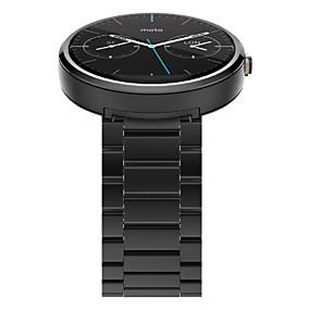 baratos 30% de Desconto Ou Mais-Pulseiras de Relógio para Moto 360 Motorola borboleta Buckle Aço Inoxidável Tira de Pulso