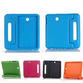 voordelige Galaxy Tab E 9.6 Hoesjes / covers-hoesje Voor Samsung Galaxy Tab E 9.6 Schokbestendig / met standaard / Kindveilig Volledig hoesje Effen Siliconen